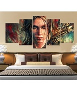 Tomb Raider Wall Art Abstract Decor Painting Oil On Canvas Gift Idea Pos... - $74.99+