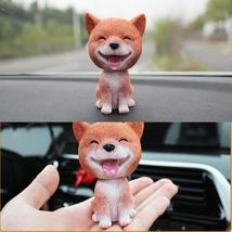 PANDA SUPERSTORE [Smile Shiba] Good Luck Bobbleheads Car Ornaments Resin Car Dec image 2