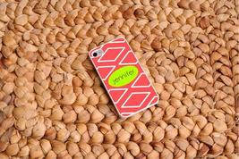 Personalized White Trimmed iPhone Cover - Coral - $31.86 CAD