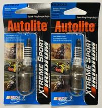 Set 2x Autolite Xtreme Sport Iridium Spark Plug XS3922 RC7YC NGK BKR7E9 BKR7EIX