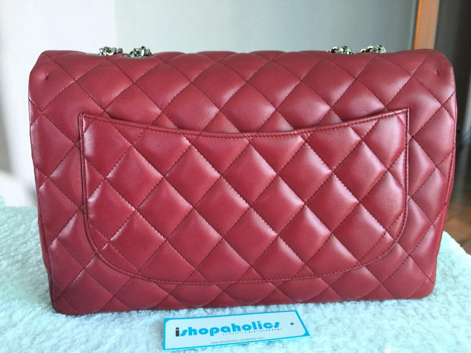 f6d8b42cb897 Chanel Red Bijoux Jumbo Lambskin Classic and 50 similar items