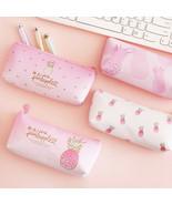 Cute Girls Pencil Bag School Kawaii Fruit Peach Pineapple Pencil Case St... - $1.69+
