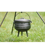 Cauldron Cast iron 3 quart Potjie pot Sz1 Wilderness Survival Pagan Reen... - $74.00