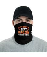 Black I eat bacon & know things Tube Bandanna Neck Gaiter face mask neck... - $21.95