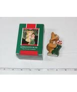 Hallmark Recuerdo Ornamento Canela Oso Porcelana Artesanía 1989 Usada - $16.07