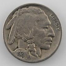 1921 Buffalo Five Cent Nickel 5C (Very Fine, VF Condition)  - $23.76