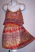 Forever 21 Dress S Boho Silky Aztec Hippy Summer Supercute Sundress Bust... - $17.10