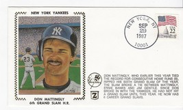 DON MATTINGLY 6th GRAND SLAM HOMERUN NEW YORK NY SEP 29 1987 Z SILK - $2.68