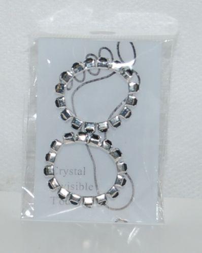 Black Rhinestones Silver Color Toe Rings Single Wide Two per Package