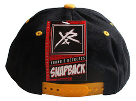 Young & Reckless Y&R LA Mens Black Yellow Snapback Baseball Hat New with Tags image 2