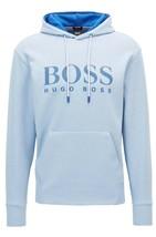 Hugo Boss Men's Athletic Slim Fit Logo Hoodie Sweater Soody 50384124 Blue image 2