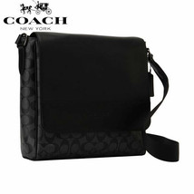 NWT Coach shoulder bag men signature F73339 QBMI5 BLACK - $129.99