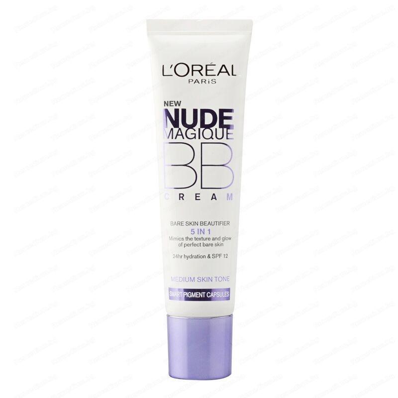 Loreal Nude Magique BB Cream 5 in1 Medium x 30 ml Special Moisturizing Cream