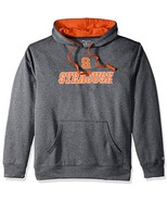 NCAA Syracuse Orange Adult Men Pullover Hood with Contra, Small, Anthracite - $37.95