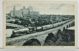 Empire Builder Crossing Stone Arch Bridge Minneapolis to Bowler Wis Post... - $9.95