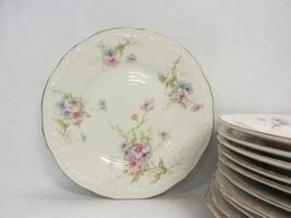 "Vtg Theodore Haviland ""Annette"" 11 Bread Plate Pink Blue Flowers - $54.44"