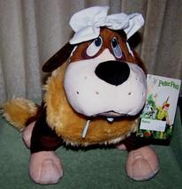 "Disney Store Peter Pan NANA St Bernard Dog 12.5"" Plush New - $26.50"