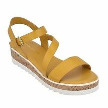 Marc Fisher Grandie Platform Sandals Yellow Size 6.5 M New Without Box - $33.99