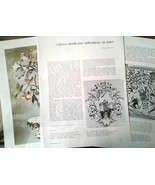 Colifichets Double Face Embroideries on Paper Art Reference Magazine Art... - $14.99
