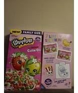 2x  KELLOGG'S SHOPKINS Apple Strawberry Cutie O's Flavored Cereal 13oz e... - $12.82