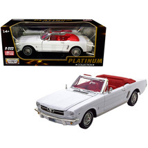 An item in the Toys & Hobbies category: 1964 1/2 Ford Mustang Convertible White with Red Interior Platinum Collection...