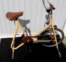 Vintage Stationary Yellow Exercise Bike DP Pacer 200 - $174.23