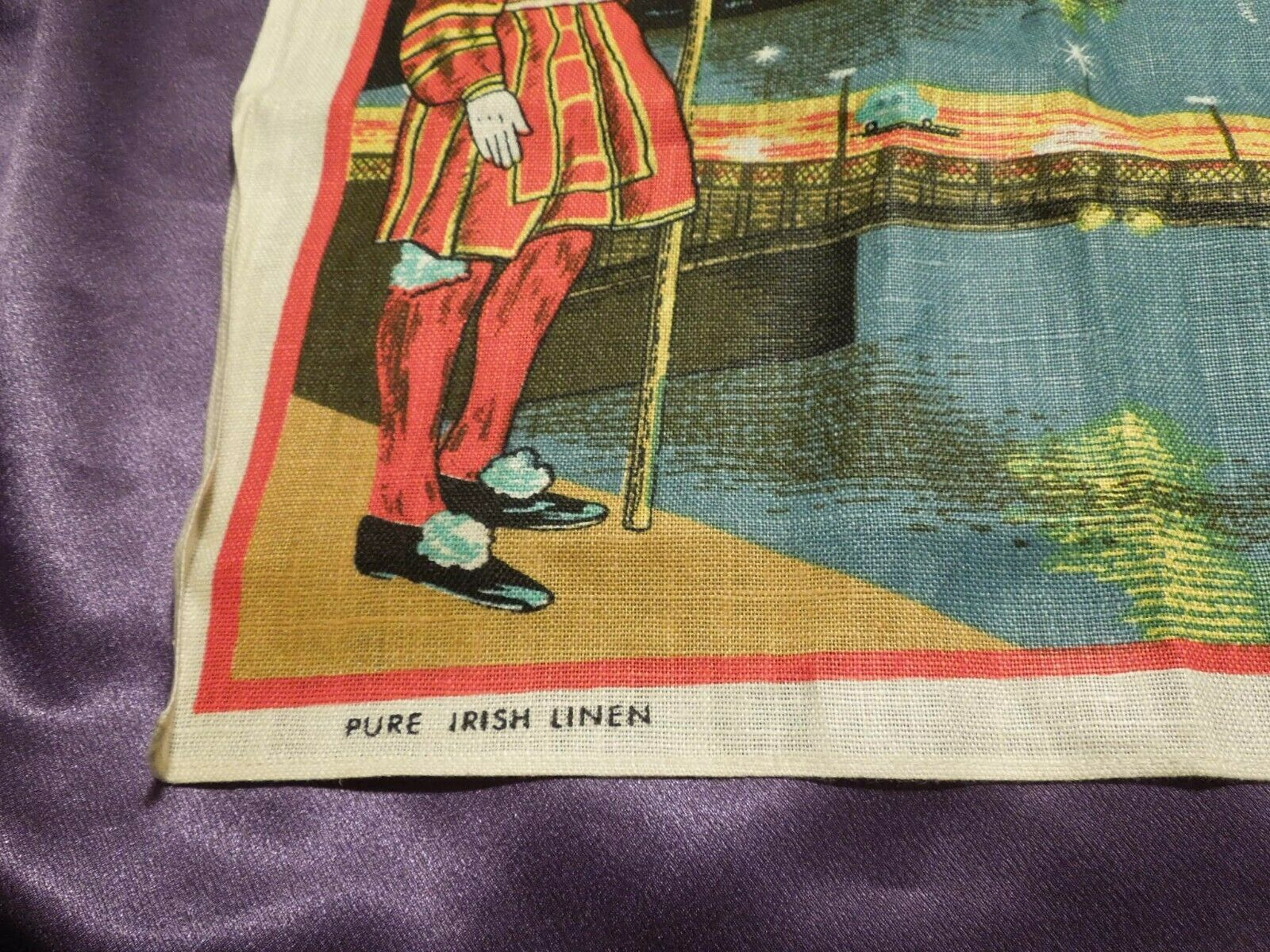 Vintage London by Night by Blackstaff Pure Irish Linen Towel Art image 6