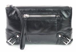 Michael Kors Fallon Reißverschluss Clutch Tasche Handgelenkschlaufe schwarz - $2.912,83 MXN