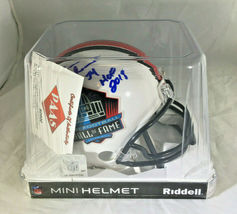 BRIAN URLACHER / NFL HALL OF FAME / AUTOGRAPHED HALL OF FAME MINI HELMET / COA image 8