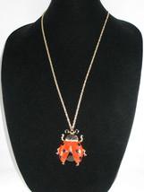 NEW Betsey Johnson Jeweled Red/ Black Ladybug Pendant on lo... - $24.50
