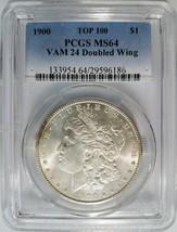 1900 Silver Morgan Dollar PCGS MS 64 Vam 24 Doubled Wing DDR Mint Error ... - $219.99