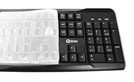 QSENN GP-K2500 USB Wired Korean English Keyboard with Cover Skin Protector image 3