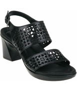 Womens Earth Junipine Ankle Strap Sandals - Black Leather, Size 6 - $56.99