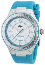 Lacoste Ladies Acapulco Turquoise Rubber Watch 2000757 - $145.52