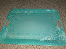 """Laurie Gates~Blue Floral/Flowers 18"""" Rectangular Serving tray - $9.90"""