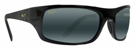 Maui Jim PEAHI 202-02 Gloss Black / Neutral Grey Polarized Lens  - $157.36