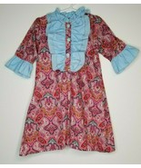 Smockingbird Boutique Girls Size 5 Ruffles Pink Blue Print Dress - $19.99