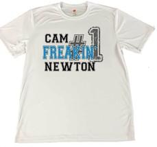 Cam Freakin' Newton #1 Cam Newton Wicking T-Shirt w Flag Car Coaster - $14.80+