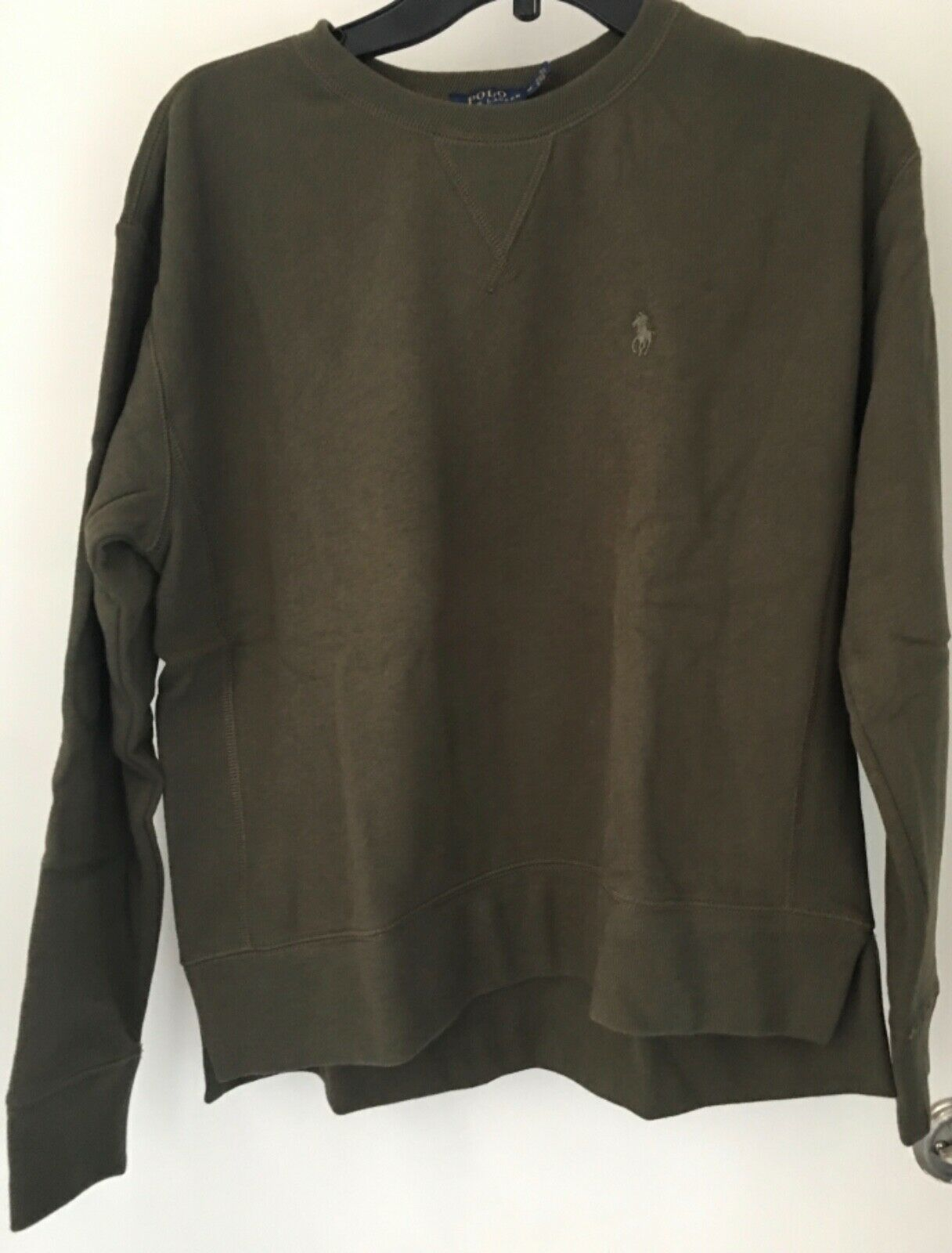 Primary image for Polo Ralph Lauren Womens Fleece Pullover Sweatshirt SOFT Flannel Olive XL NWT