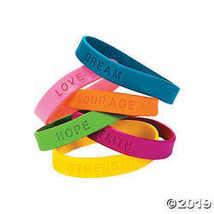 Inspirational Sayings Rubber Bracelets - $9.11