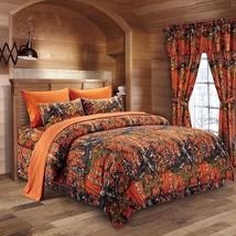 The Woods Camo Orange 7 piece Comforter and Sheet Set - $85.00