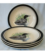 Folkcraft Stoneware Loon Lake by Scotty Z Dinner Plate, set of 4 - $80.08