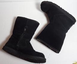Authentic Ugg Australia Boots Black Suede Sheepskin Sn 5948 Womens Usa Size 6 - $46.49