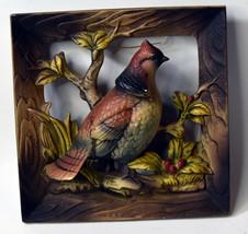 "6"" Vintage Ceramics Napcoware 3D Wall Decor Bluejay Birds Japan Made - $28.49"
