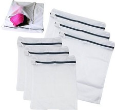 6 Packs Heavy Duty Canvas Laundry Mesh Bag Washing Dirty Clothes Dryer W... - $11.05