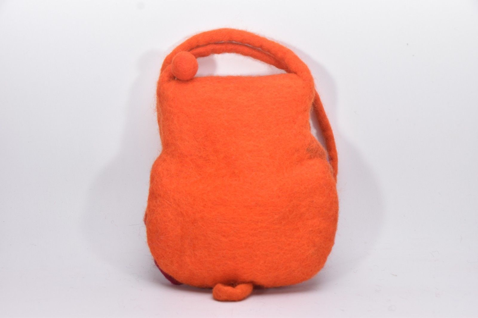 Purse hand Carry Bag Handmade wool OWL Shape Flower bag Multi Colour BAG Nepal