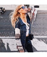 Boho Denim Sweater Jacket - $89.95