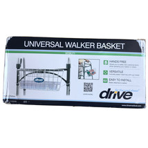 Drive Universal Walker Basket White w/ Plastic Insert Tray & Cup Holder NEW - $13.28