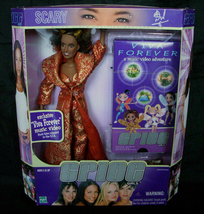 RARE! ~ Spice Girls Viva Forever Scary Spice Doll with Music Video MIB ~... - $139.99