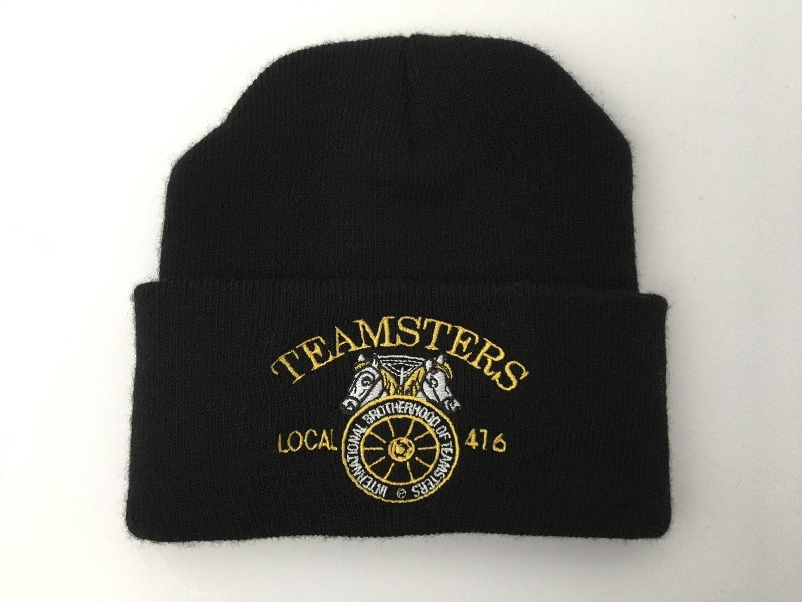 017d46130c156c International Brotherhood Teamsters Local 416 Knit Cap Black Made In USA  NWOT